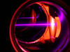 A purple laser beam slows erbium atoms