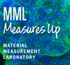 MML Measures Up logo on background of cells