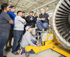 2018 Baldrige Award Recipient The Alamo Colleges District photo showing Alamo Colleges District instructor Richard Jewell teaching a turbine engine class at St. Philip's College Southwest Campus.