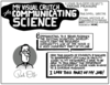 cartoon illustration that explains how communicating science is a key part of NIST Center for Neutron Research Director Rob Dimeo's job