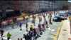 One frame of the Boston Marathon live video stream that was transmitted using Spectronn's technology.