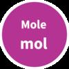 Mole SI Symbol Circle Graphic