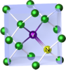 Nitrogen-vacancy center in a diamond crystal