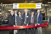 Group of executives performing ribbon cutting to open NIST beamlines at Brookhaven National Lab NSLS-II