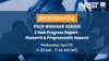 "This image shows text saying: ""Register Now, PSCR Webinar Series: 3-Year Progress Report - Research & Programmatic Impacts, Wednesday April 22 11:00 AM - 11:45 AM (MT)"