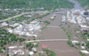 a flooded downtown Cedar Rapids