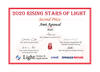 2020 Rising Stars of Light certificate for Amit Agrawal