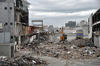 A view of rubble in the central business district of Christchurch, New Zealand, following a devastating earthquake.