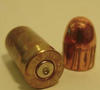 A fired cartridge case and a fired bullet.