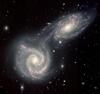 Galaxies colliding