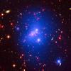 a galaxy cluster