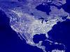 USA map at night