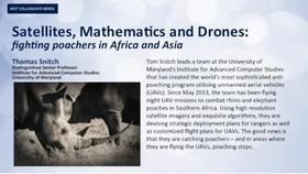 NIST Colloquium Series:  Satellites, Mathematics and Drones: fighting poachers in Africa and Asia Thumbnail