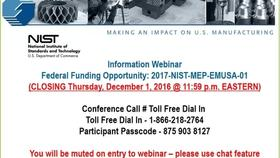 Embedding MEP into Manufacturing USA Institutes FFO Round 2 Webinar 11-02-2016 Thumbnail