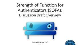 Strength of Function for Authenticators - Biometrics (SOFA-B) Discussion Draft Webinar Thumbnail