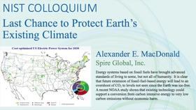 NIST Colloquium - Last Chance to Protect Earth's Existing Climate, Alexander MacDonald Thumbnail