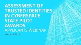 Applicants Webinar - New Funding Opportunity: Assessing the Benefits and Impacts of Five NIST State Pilots Thumbnail