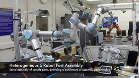 Coordinated assembly in a heterogeneous robotic work cell Thumbnail