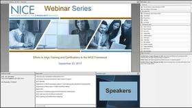 NICE Webinar:  Efforts to Align Training and Certifications to the NICE Framework Thumbnail