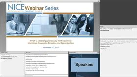 NICE Webinar: A Path to Obtaining Cybersecurity Work Experience Internships, Cooperative Education, and Apprenticeships Thumbnail