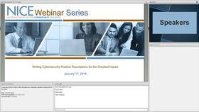 NICE Webinar:  Writing Cybersecurity Position Descriptions for the Greatest Impact Thumbnail