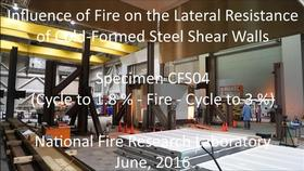 Cold-Formed Steel Shear Wall Structure-Fire Interaction (CFS04) Thumbnail