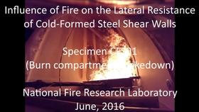 Cold-Formed Steel Shear Wall Structure-Fire Interaction: Shakedown of burn compartment
