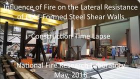 Cold-Formed Steel Shear Wall Structure-Fire Interaction: Test setup