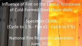 Cold-Formed Steel Shear Wall Structure-Fire Interaction (CFS06) Thumbnail