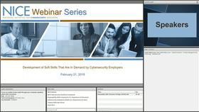 NICE Webinar: Development of Soft Skills That Are In Demand by Cybersecurity Employers Thumbnail