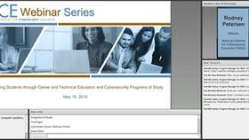 NICE Webinar: Preparing Students through Career and Technical Education and Cybersecurity Programs of Study Thumbnail