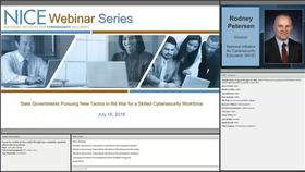 NICE Webinar: State Governments Pursuing New Tactics in the War for a Skilled Cybersecurity Workforce Thumbnail
