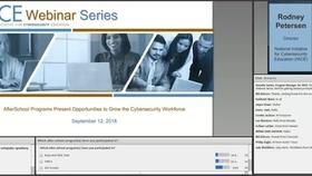 NICE Webinar:  Afterschool Programs Present Opportunities to Grow the Cybersecurity Workforce Thumbnail