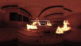 360° Video of a Compartment Fire Burner Shakedown Thumbnail