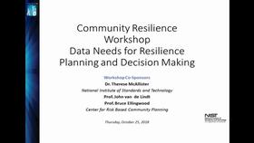 Opening Remarks - 2018 Community Resilience Data Workshop Thumbnail
