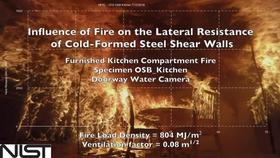 Cold-Formed Steel Shear Wall Structure-Fire Interaction (Kitchen doorway view) Thumbnail