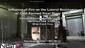 Cold-Formed Steel Shear Wall Structure-Fire Interaction (Kitchen front view) Thumbnail