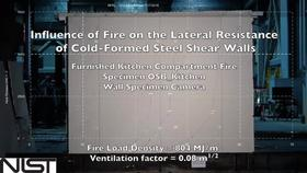 Cold-Formed Steel Shear Wall Structure-Fire Interaction (Kitchen wall view) Thumbnail