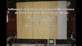 Cold-Formed Steel Shear Wall Structure-Fire Interaction (Specimen OSB03R) Thumbnail