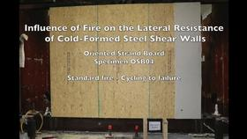 Cold-Formed Steel Shear Wall Structure-Fire Interaction (Specimen OSB04) Thumbnail