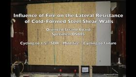 Cold-Formed Steel Shear Wall Structure-Fire Interaction (Specimen OSB05)