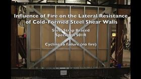 Cold-Formed Steel Shear Wall Structure-Fire Interaction (Specimen S01R) Thumbnail