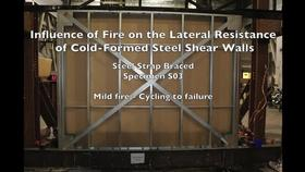 Cold-Formed Steel Shear Wall Structure-Fire Interaction (Specimen S03) Thumbnail
