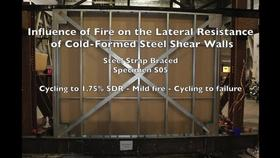 Cold-Formed Steel Shear Wall Structure-Fire Interaction (Specimen S05) Thumbnail