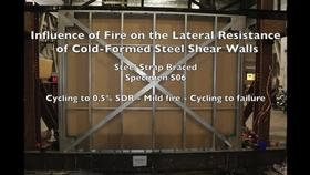 Cold-Formed Steel Shear Wall Structure-Fire Interaction (Specimen S06) Thumbnail
