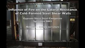 Cold-Formed Steel Shear Wall Structure-Fire Interaction (Specimen SB03) Thumbnail