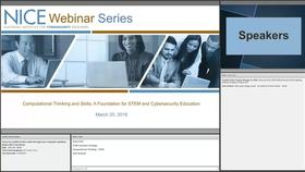 NICE Webinar: Computational Thinking and Skills_ A Foundation for STEM and Cybersecurity Education Thumbnail