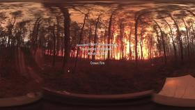 360° Video of Crown Fire during a Prescribed Burn in the New Jersey Pine Barrens on March 27, 2019 Thumbnail