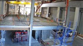 Time Lapse Video of Casting of Composite Concrete-Steel Floor (Top View) Thumbnail