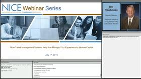NICE Webinar: How Talent Management Systems Help You Manage Your Cybersecurity Human Capital Thumbnail